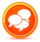 Bottone rotondo arancio naturale dell'icona di conversazione royalty illustrazione gratis