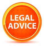 Bottone rotondo arancio naturale di consiglio legale illustrazione vettoriale