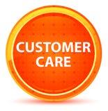 Bottone rotondo arancio naturale di cura del cliente royalty illustrazione gratis