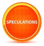 Bottone rotondo arancio naturale di speculazioni illustrazione di stock