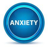 Bottone rotondo blu del bulbo oculare di ansia illustrazione di stock