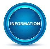 Bottone rotondo blu del bulbo oculare di informazioni illustrazione vettoriale