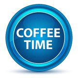 Bottone rotondo blu del bulbo oculare di tempo del caffè royalty illustrazione gratis