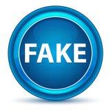Bottone rotondo blu del bulbo oculare falso illustrazione di stock