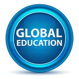 Bottone rotondo blu del bulbo oculare globale di istruzione royalty illustrazione gratis