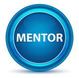 Bottone rotondo blu del bulbo oculare del mentore illustrazione vettoriale