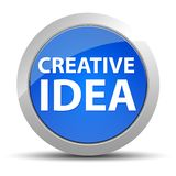 Bottone rotondo blu di idea creativa royalty illustrazione gratis