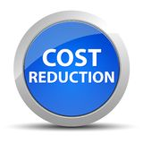 Bottone rotondo blu di riduzione dei costi illustrazione vettoriale