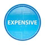 Bottone rotondo blu floreale costoso illustrazione di stock