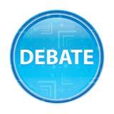 Bottone rotondo blu floreale di dibattito illustrazione di stock