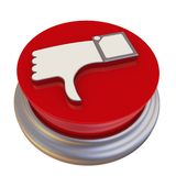 Bottone rotondo con il simbolo della rassegna negativa Illustrazione di Stock