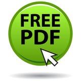 Bottone rotondo di web di verde pdf dell'icona Fotografia Stock Libera da Diritti