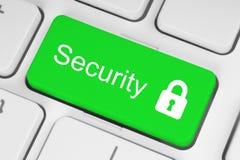 Bottone verde di sicurezza Immagine Stock