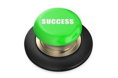 Bottone verde di successo Fotografia Stock
