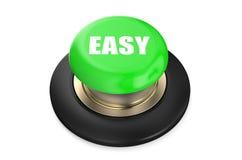 Bottone verde facile illustrazione di stock