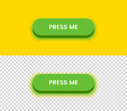 Bottone verde semplice Fotografie Stock Libere da Diritti
