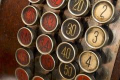 Bottoni antichi del registratore di cassa Immagini Stock Libere da Diritti