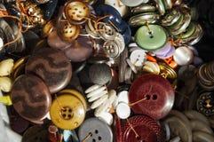 Bottoni assortiti Fotografia Stock Libera da Diritti