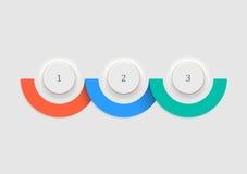 Bottoni bianchi - numeri la progettazione delle insegne e di infographics di opzioni Immagine Stock Libera da Diritti