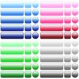 Bottoni in bianco di web di colore Fotografia Stock