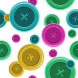 Bottoni che cucono modello senza cuciture, vettore IL dell'abbigliamento della camicia del bottone Fotografia Stock Libera da Diritti