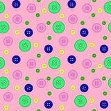 Bottoni colourful astratti modello senza cuciture, tessuto, progettazione di superficie royalty illustrazione gratis