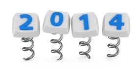 Bottoni con 2014 Fotografia Stock
