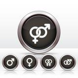 Simboli maschii e femminili. Immagine Stock