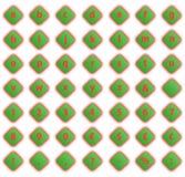 Bottoni con le lettere ed i numeri, volume illuminato Fotografie Stock