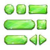 Bottoni a cristallo verdi Immagini Stock Libere da Diritti