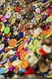 Bottoni cuciti Fotografia Stock