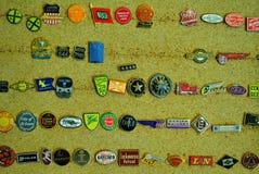 Bottoni dalle linee ferroviarie degli stati medio-occidentali Fotografia Stock
