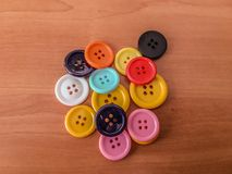 Bottoni dei colori differenti e delle forme differenti Fotografia Stock