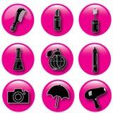Bottoni dei cosmetici Fotografie Stock