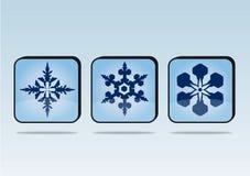 Bottoni dei fiocchi di neve Immagine Stock Libera da Diritti