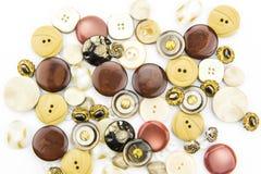 Bottoni dei vestiti Fotografie Stock