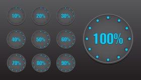 Bottoni del cerchio delle percentuali Fotografia Stock
