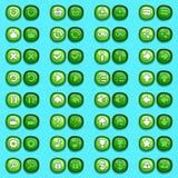 Bottoni del ghiaccio delle icone del menu del gioco messi Fotografie Stock