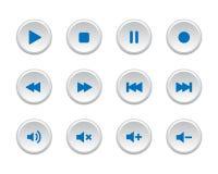Bottoni del lettore multimediale Fotografie Stock