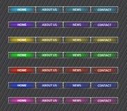 Bottoni del menu Fotografia Stock Libera da Diritti