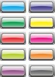 Bottoni del metallo Fotografia Stock Libera da Diritti