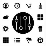 bottoni del miscelatore in un'icona del cerchio insieme universale delle icone di web per il web ed il cellulare illustrazione di stock