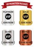 Bottoni del pacchetto di promozione di VIP Fotografie Stock