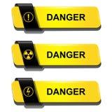 Bottoni del pericolo illustrazione di stock