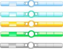 Bottoni del sito Web Fotografia Stock