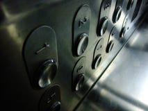 Bottoni dell'elevatore Fotografie Stock