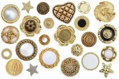 Bottoni dell'oro Fotografia Stock Libera da Diritti