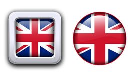 Bottoni della bandiera della Gran Bretagna Fotografie Stock Libere da Diritti