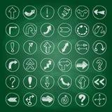 Bottoni della freccia di scarabocchio Fotografie Stock Libere da Diritti