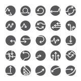 Bottoni della freccia, icone della freccia Fotografia Stock Libera da Diritti